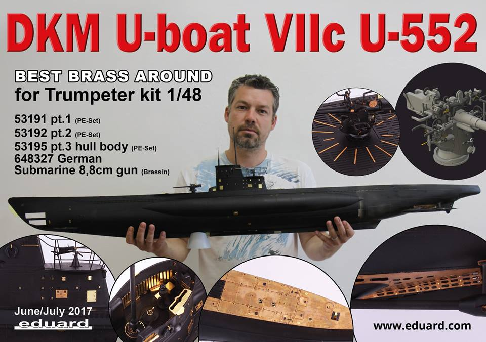 best service d5f85 84041 In June we released the first PE sets for the DKM U-boat VIIC U-552 in 1 48  scale by Trumpeter – the hull set (53191) and the tower set (53192).