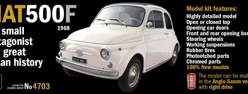 ITALERI 4703 – scale 1 : 12 FIAT 500F 1968 NOW ON SALE