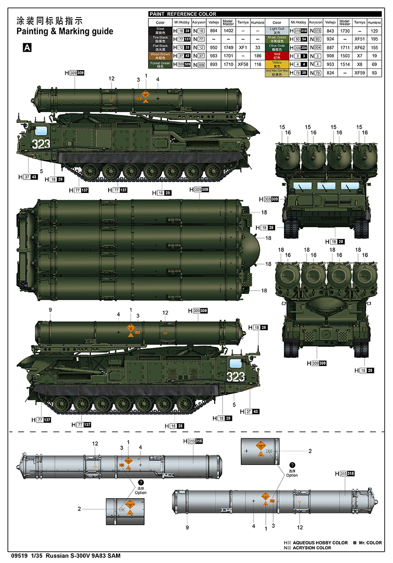 NEW FROM trumpeter 1/35 Russian S-300V 9A83 missile launch vehicle