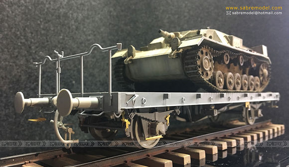 NEW FROM SABRE MODEL ON 1/35 GERMAN RAILWAY FLACHWAGEN OMMR