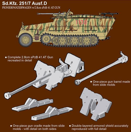 7b1190fafe NEW FROM Dragon Models-1 72 Sd.Kfz.251 7 Ausf.D Pionierpanzerwagen (2 in 1)  – toyland hobby modeling magazine