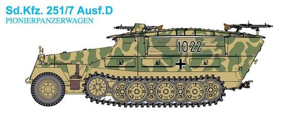 DRAGON 7605 SdKfz251//7 AusfD Pionierpanzerwagen