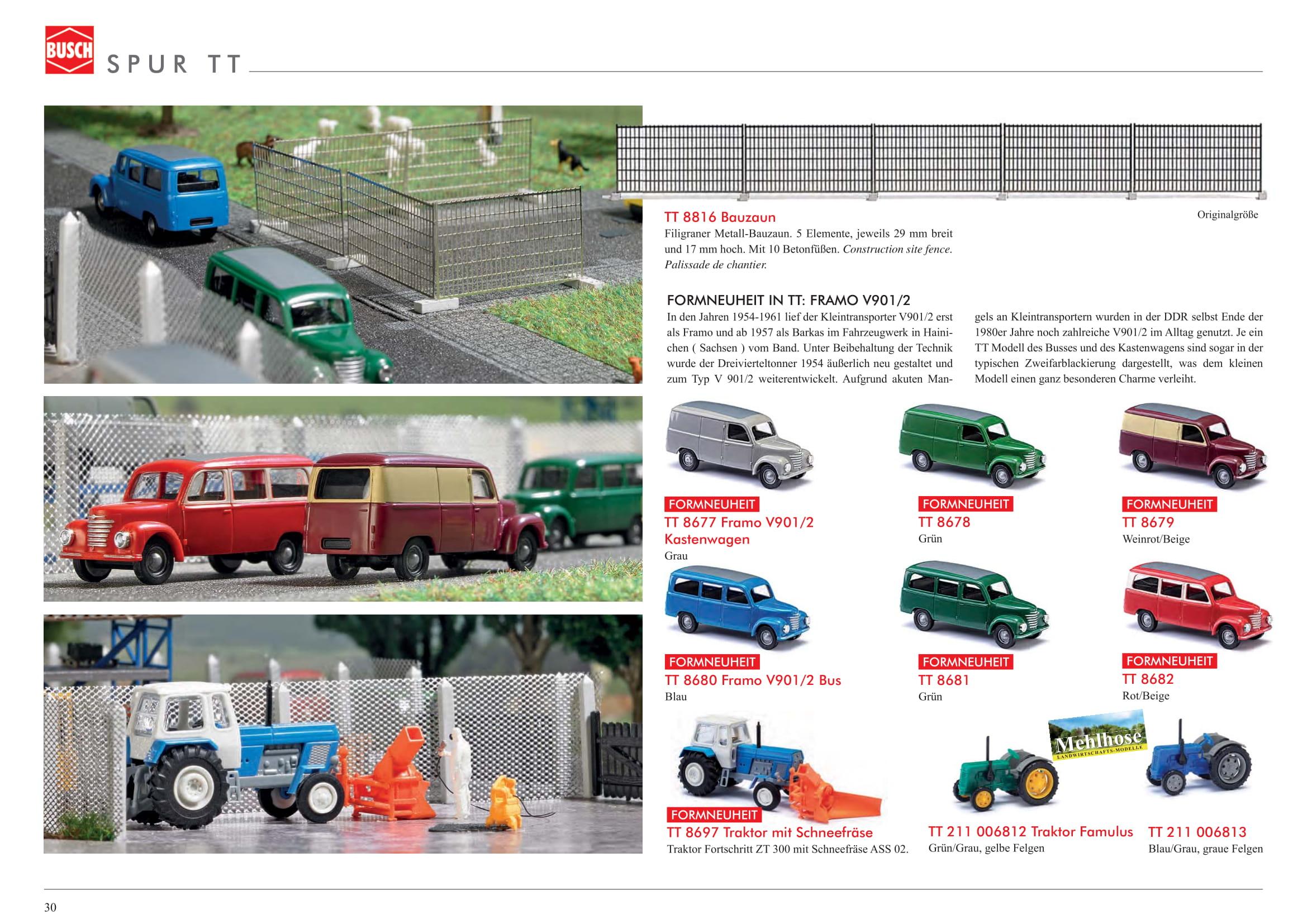 Busch Framo Kastenwagen weinrot TT 8679
