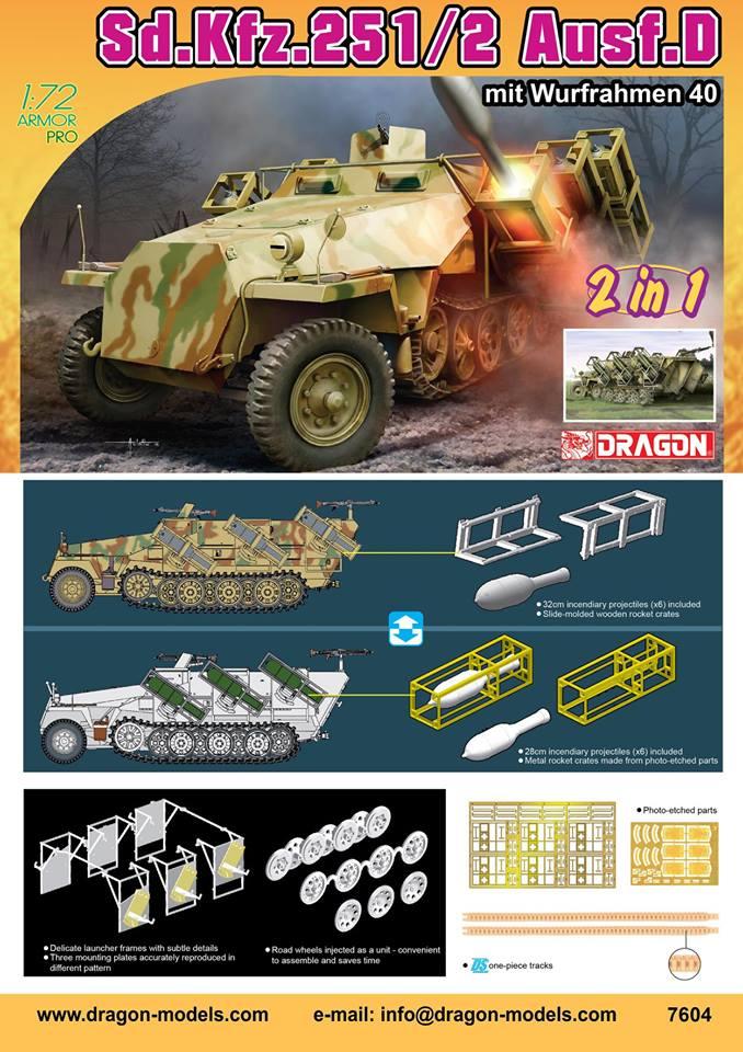 Blackdog Models 1//72 Sd.Kfz.10 with Sd.Ah.32 HALF TRACK Resin Detail Set