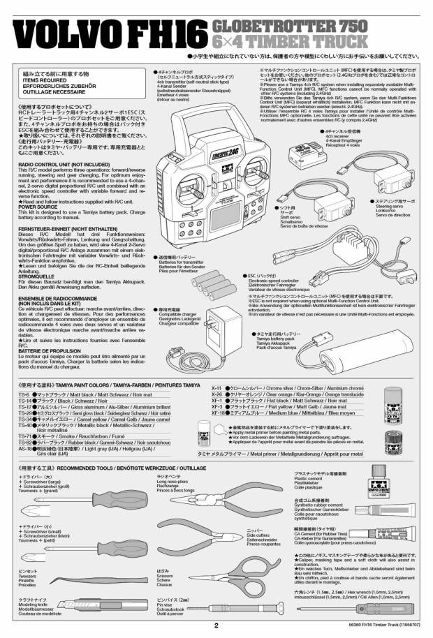 Some new Tamiya RC Assembly Manuals