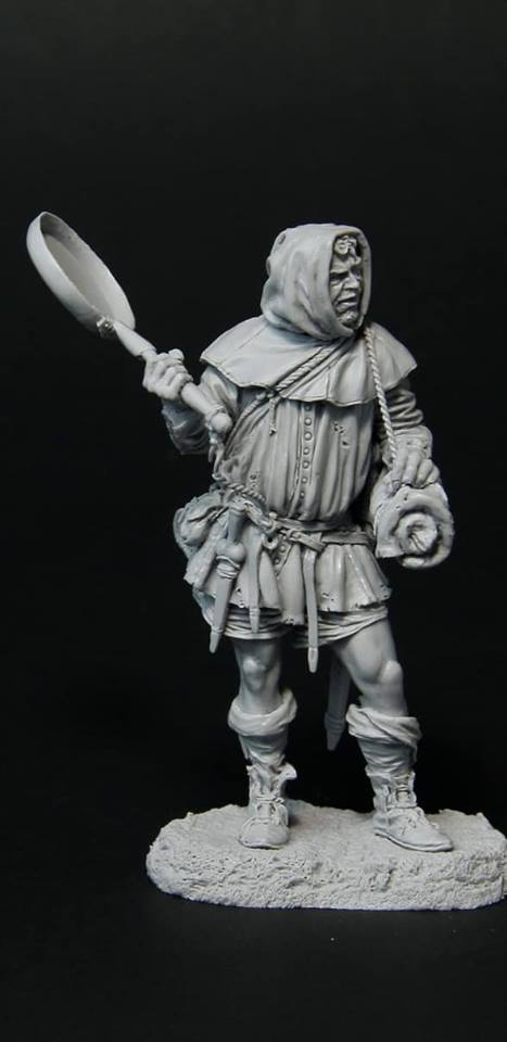 online retailer ad1e7 98a57 Good day to all, friends! Your attention is another new Altores. F-75-114  Always Hungry or Militiaman, XIV century 75 mm (1 24) Resin kit Sculptor  Oleg ...