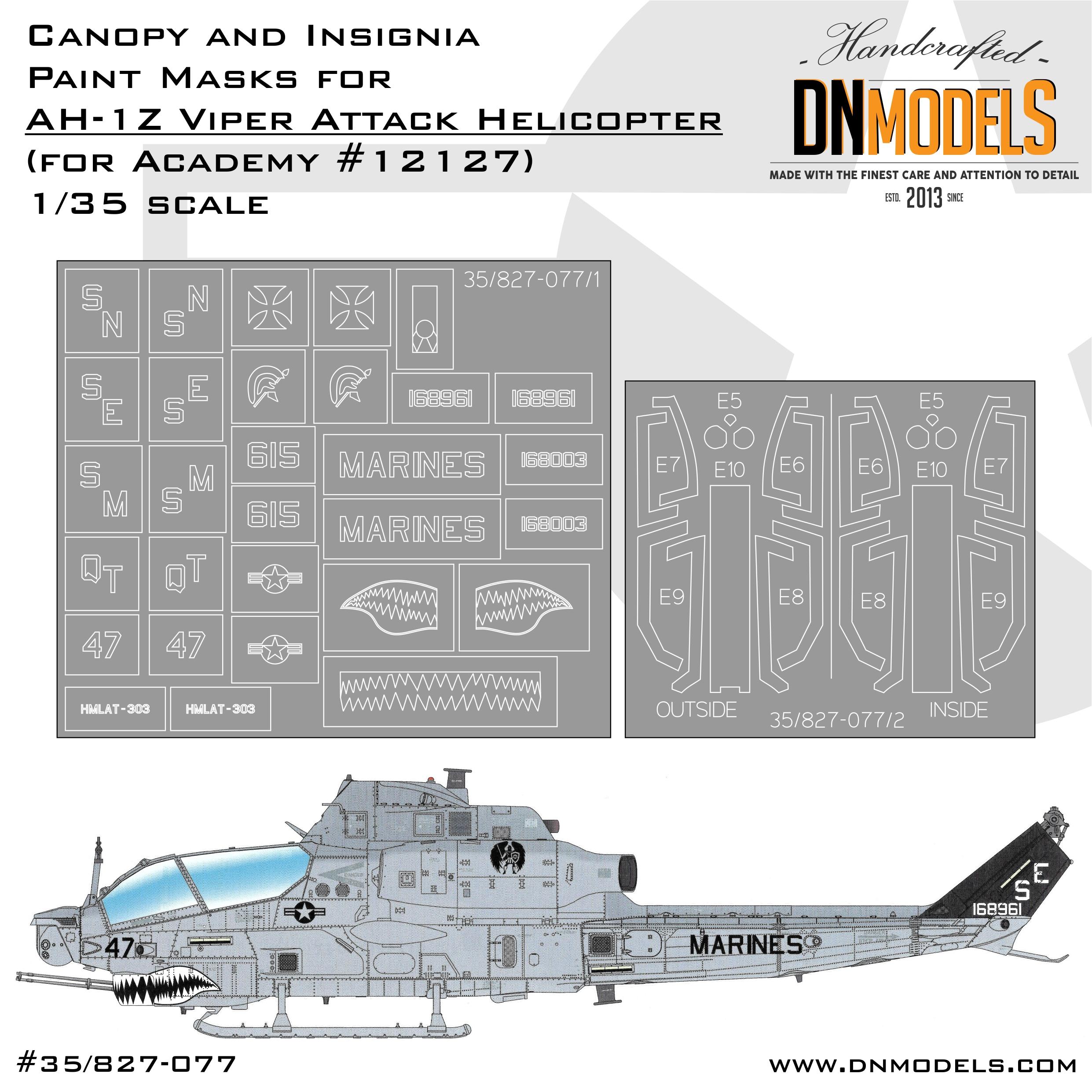 Toys & Hobbies 135 USMC AH 1Z Shark Mouth #12127 ACADEMY