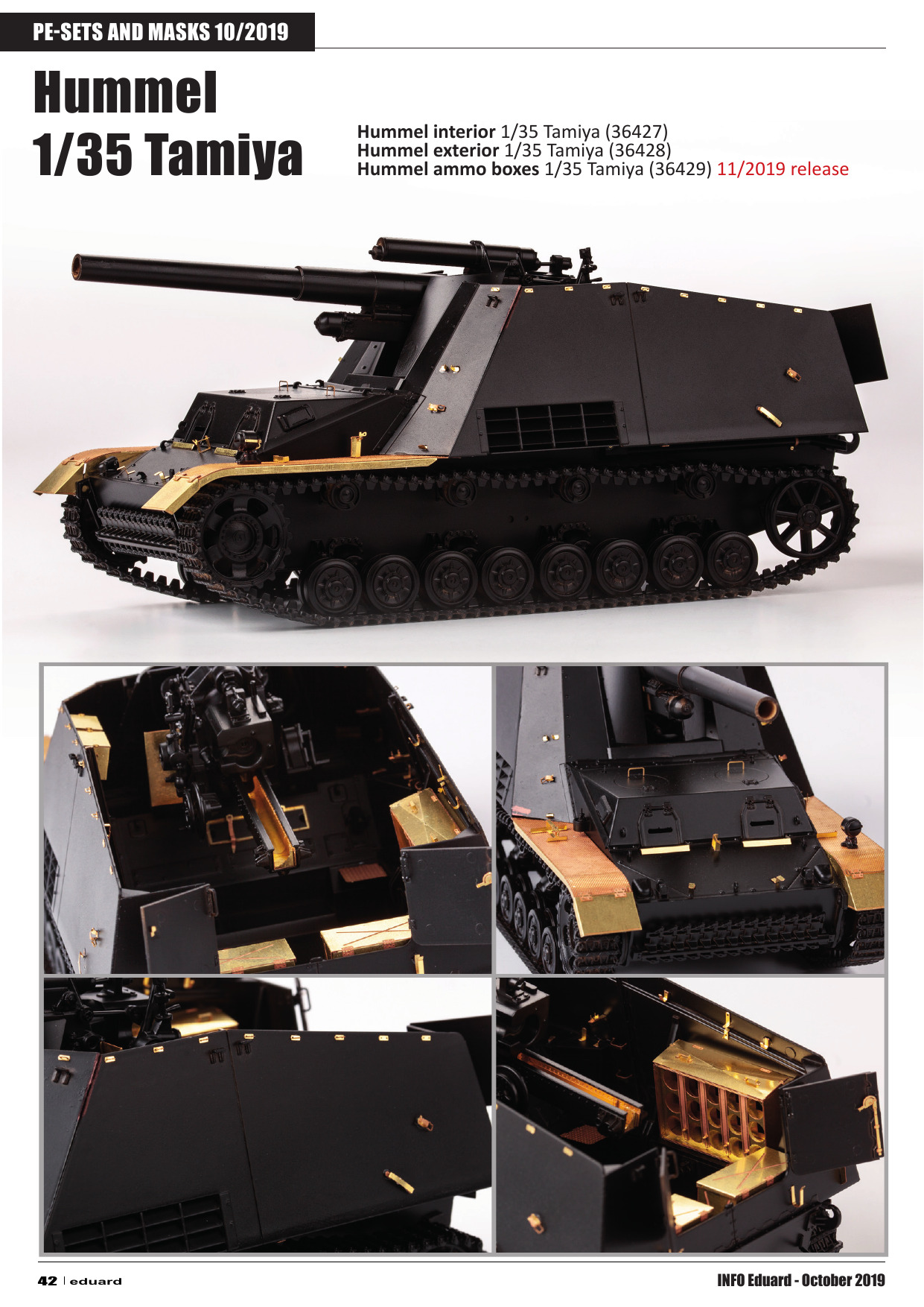 "Eduard 1//35 M26 Interior Blindé Tank Recovery Vehicle /""Dragon"