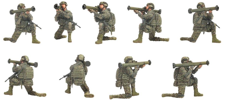 2PCS 9cm Soldier Toy Kids Military Play set Special Force Action Figures Toy LC