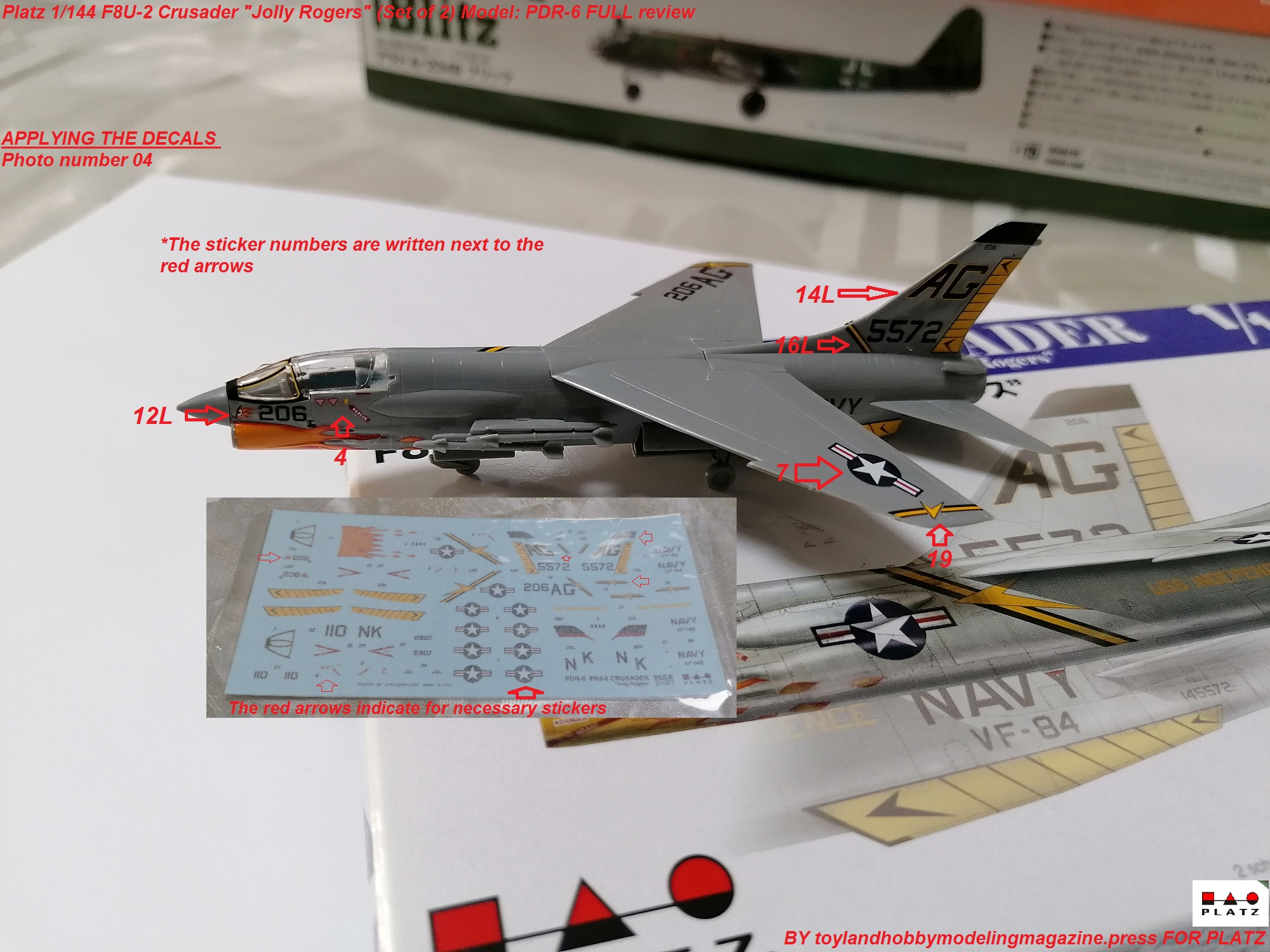 Pitot Tube # 72049 Master 1//72 Vought F-8E//F-8J Crusader